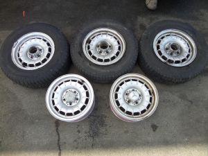 "Mercedes 300D Set of 5 14"" x 6 Baroque Wheels W123 OEM ET30"