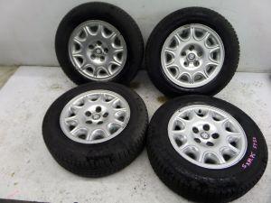 "Jaguar XKR 16"" 10 Triangle Slot Wheels X100 00-06 OEM T485 MNC6113AA Vanden Plas"