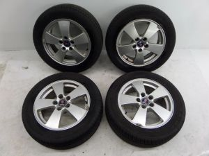 "Saab 9-5 16"" Wheels YS3E 02-05 OEM Great Tire Tread Remaining"