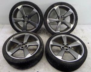 "Audi 20"" x 8.5"" 5 Spoke Rotor Wheels 24 Pics A4 S4 A5 S5 A6 S6 A7 S7 5 112 ET45"
