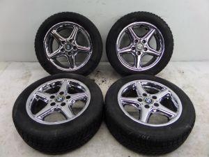"""BMW Z3 16"""" Chrome 5 Spoke Wheels E36/7 97-02 OEM E36 318 325 5 120"""