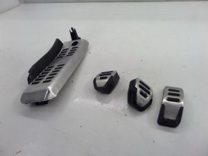 Audi RS4 Pedal Covers Set M/T Brushed Steel B7 06-08 OEM B6 A4 S4 Upgrade