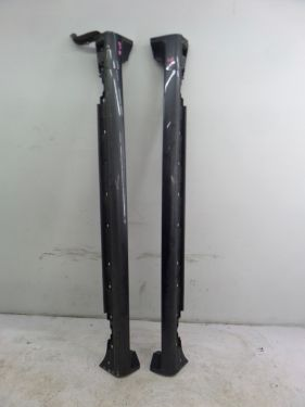 06-08 Audi B7 RS4 Grey Side Skirts Left Right Pair Rocker Panel OEM