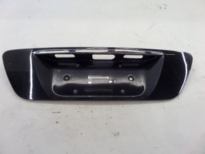Mercedes CL500 Trunk Lid License Plate Surround Panel Trim Black C215 OEM