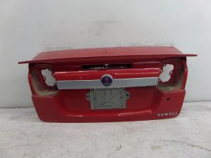 Saab 9-3 Convertible Trunk Lid w/ Spoiler Red OEM Aero Can Ship